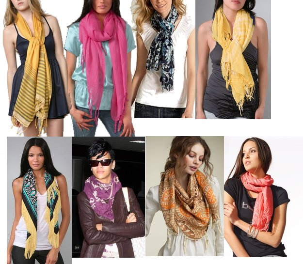 scarves dressed to a t