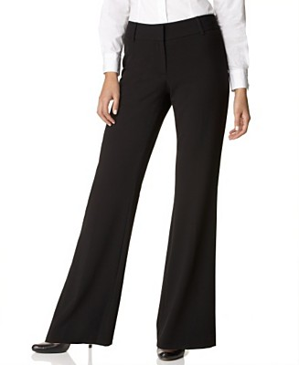 Unique Autumn Women Slim Casual Pants OL Work Wear Black Straight Pants Women