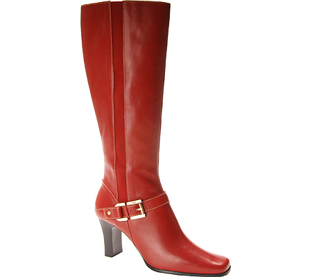 Red Leather Womens Boots