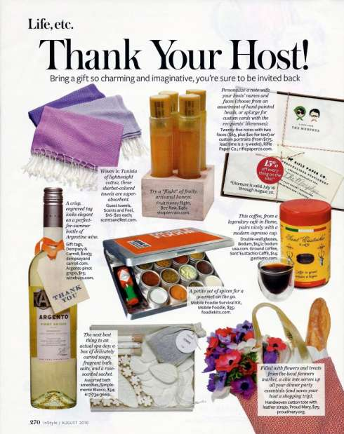 Hostess gift ideas dressed to a t for Ideas for hostess gifts for dinner party