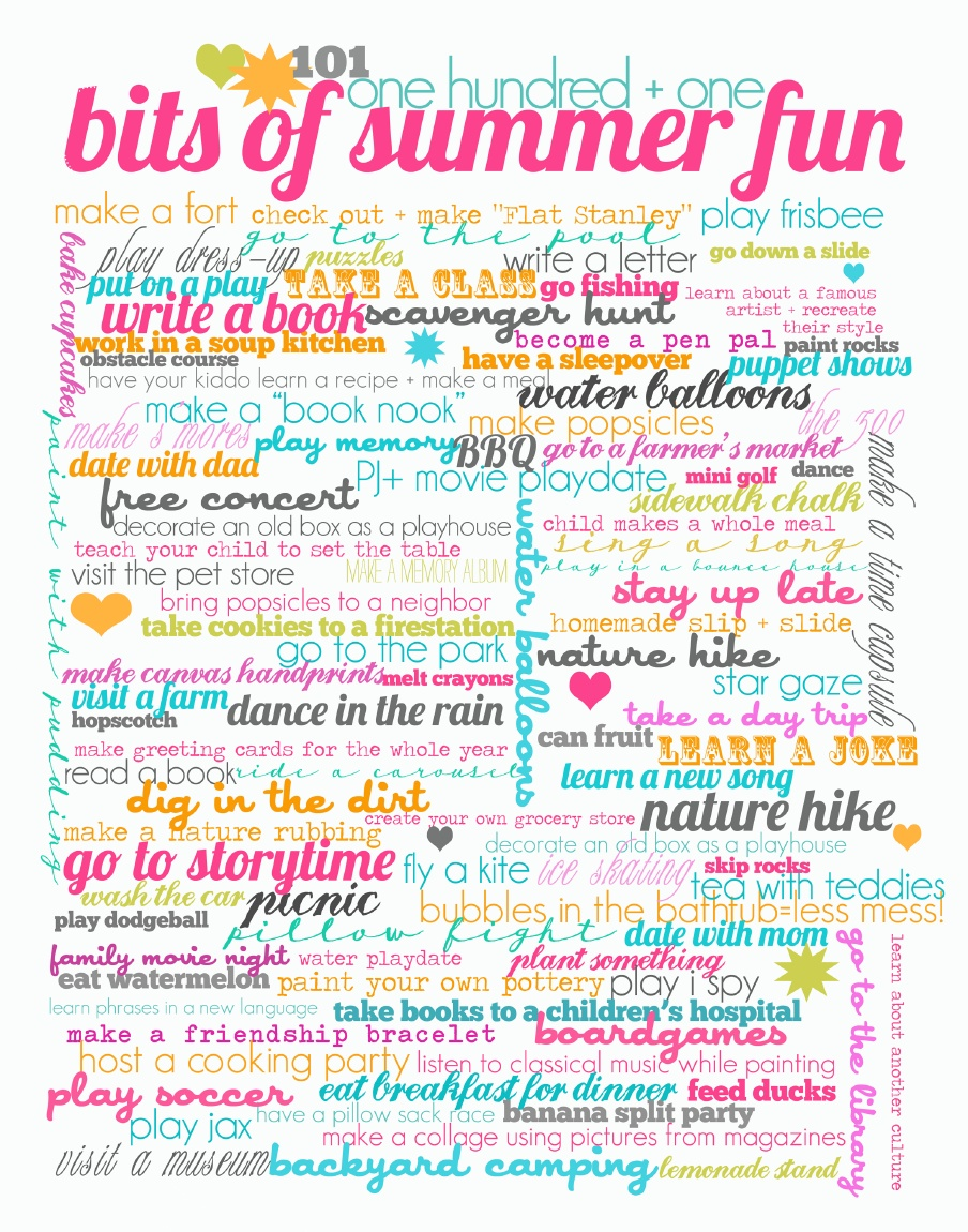 100+ Things to do this Summer | DRESSED TO A T