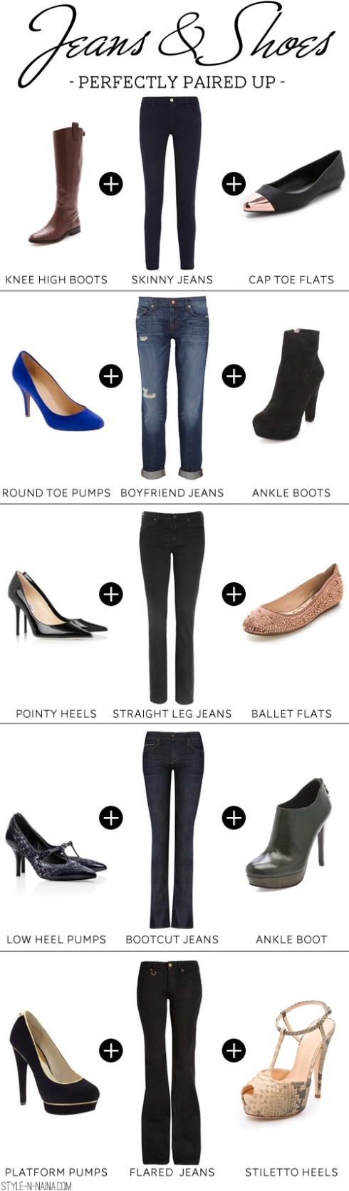 Jeans and Shoes Paired