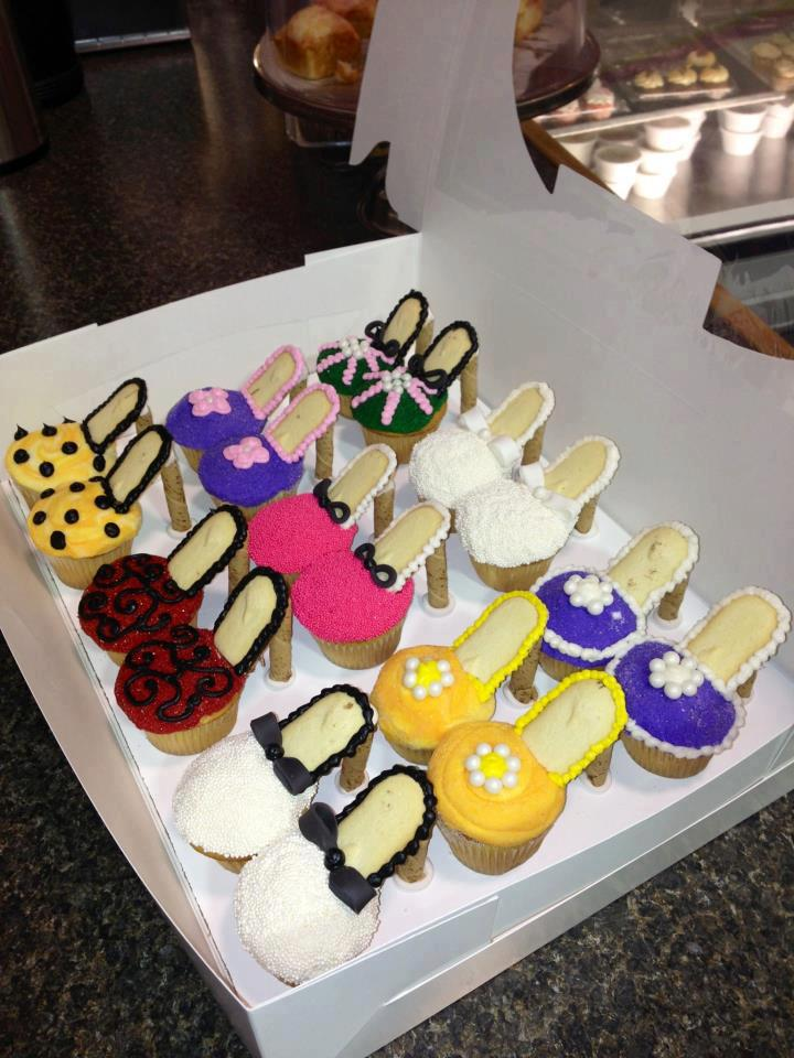 cupcakes.  Milano cookies wafers for heels