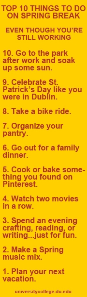 top 10 things to do on spring break