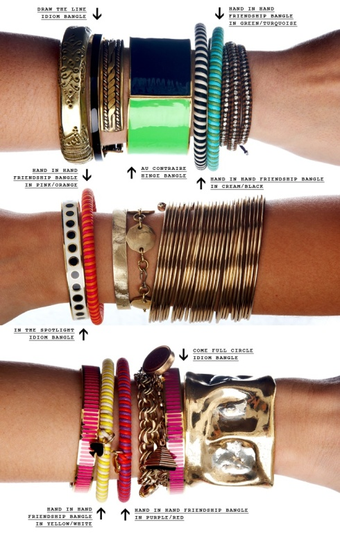 How to artfully stack bangles