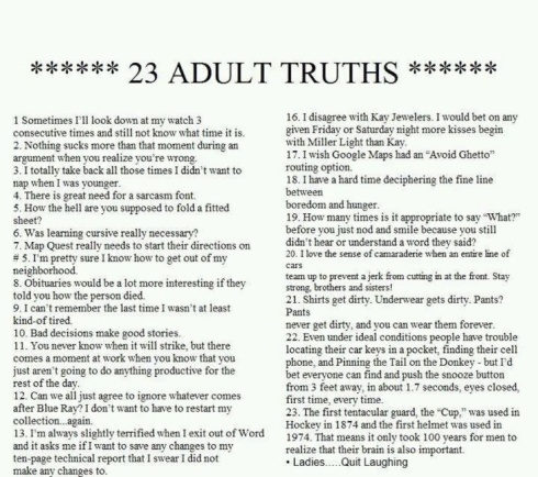 23 adult truths