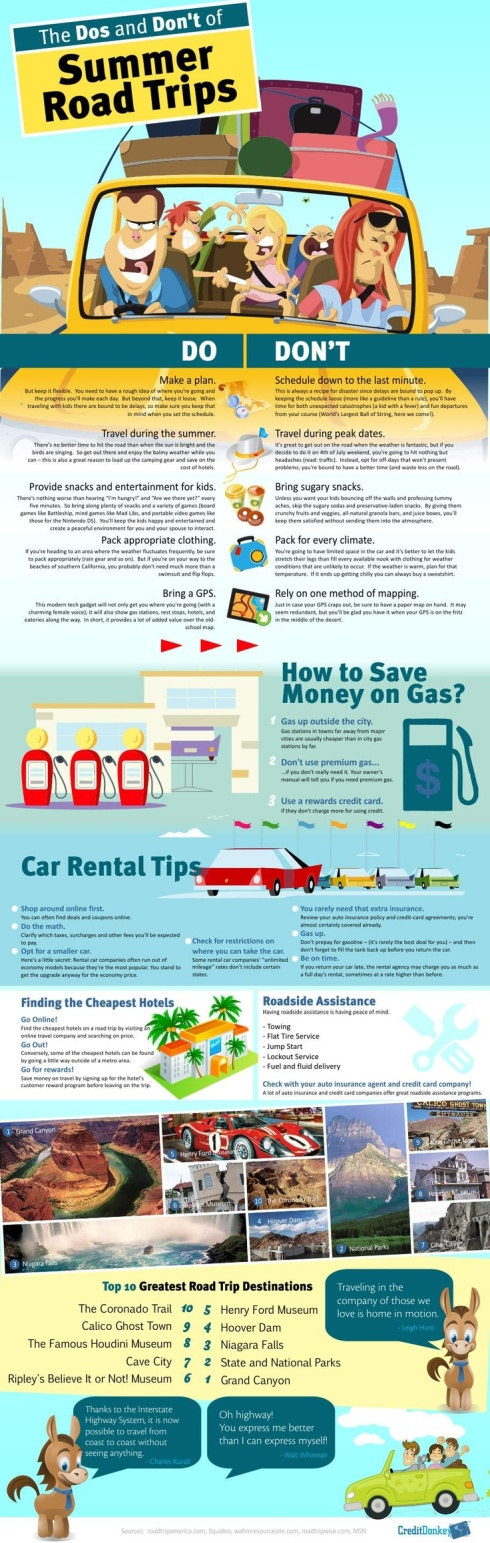 Do's and Don'ts of Summer Road Trips