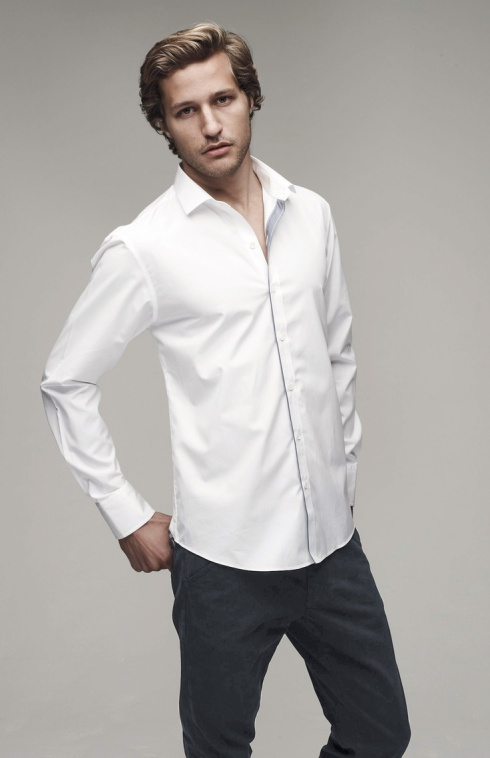 Rocking the white shirt dressed to a t for Man in white shirt