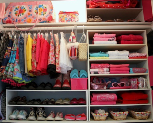 shoes on closet
