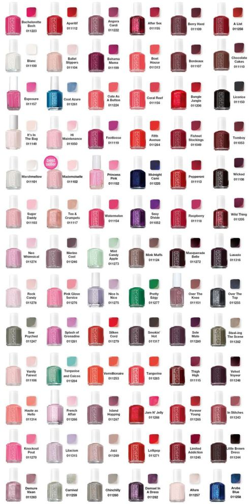 Essie Color Chart 2