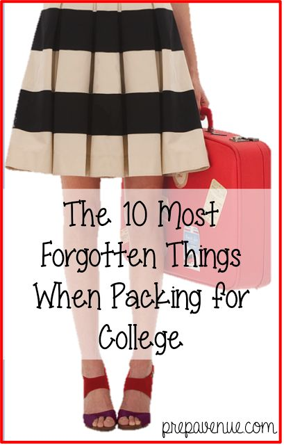 Girl S Guide To Packing For College Dressed To A T