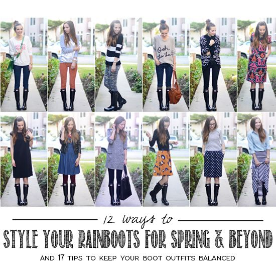 style your rain boots