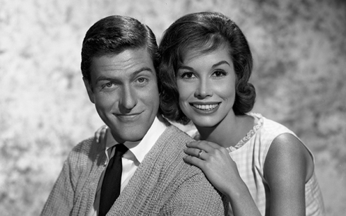 LOS ANGELES - OCTOBER 10: Dick Van Dyke, Mary Tyler Moore for The Dick Van Dyke Show. Image dated October 10, 1962. Hollywood, CA. (Photo by CBS via Getty Images)